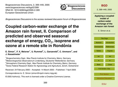 Coupled Carbon-water Exchange of the Ama... by Simon, E.