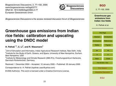 Greenhouse Gas Emissions from Indian Ric... by Pathak, H.