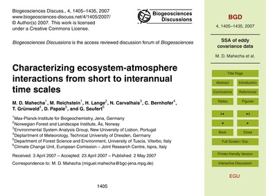 Characterizing Ecosystem-atmosphere Inte... by Mahecha, M. D.
