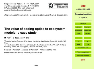 The Value of Adding Optics to Ecosystem ... by Fujii, M.