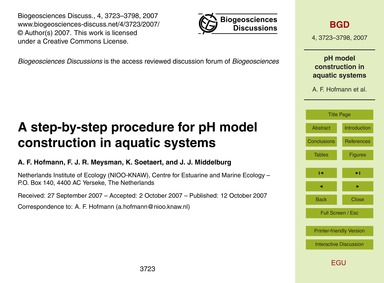 A Step-by-step Procedure for Ph Model Co... by Hofmann, A. F.