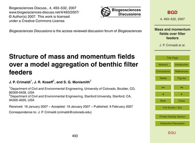 Structure of Mass and Momentum Fields Ov... by Crimaldi, J. P.