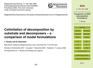 Colimitation of Decomposition by Substra... by Wutzler, T.