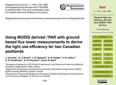 Using Modis Derived FPar with Ground Bas... by Connolly, J.