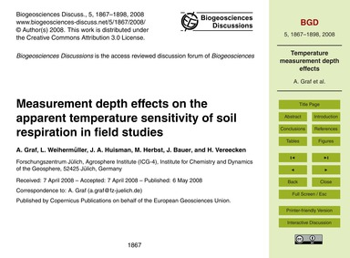 Measurement Depth Effects on the Apparen... by Graf, A.