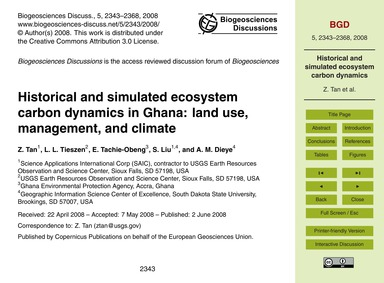 Historical and Simulated Ecosystem Carbo... by Tan, Z.