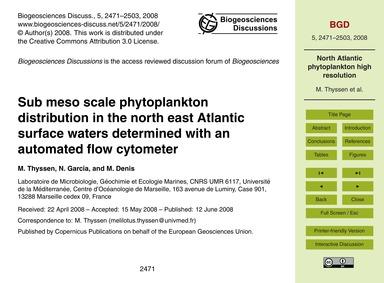 Sub Meso Scale Phytoplankton Distributio... by Thyssen, M.