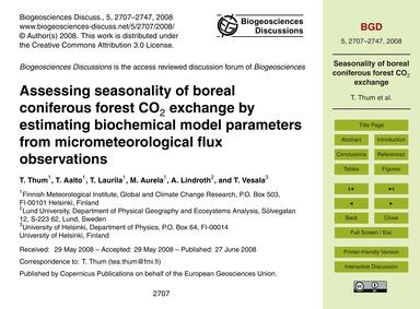 Assessing Seasonality of Boreal Conifero... by Thum, T.
