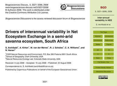 Drivers of Interannual Variability in Ne... by Archibald, S.