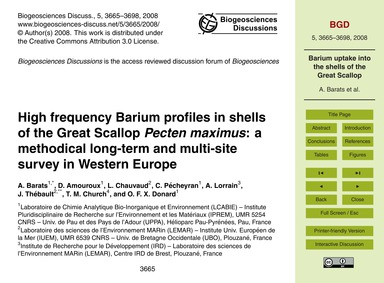 High Frequency Barium Profiles in Shells... by Barats, A.