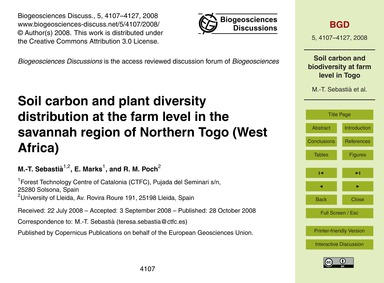 Soil Carbon and Plant Diversity Distribu... by Sebastià, M.-t.