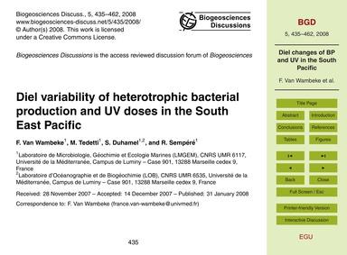 Diel Variability of Heterotrophic Bacter... by Van Wambeke, F.