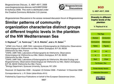 Similar Patterns of Community Organizati... by Raybaud, V.