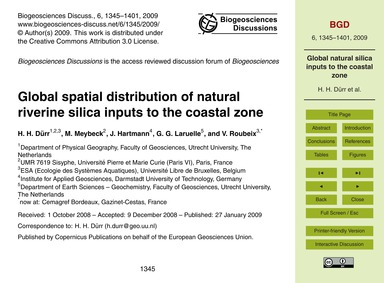 Global Spatial Distribution of Natural R... by Dürr, H. H.