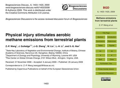 Physical Injury Stimulates Aerobic Metha... by Wang, Z.-p.