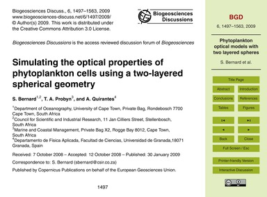 Simulating the Optical Properties of Phy... by Bernard, S.