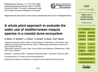 A Whole Plant Approach to Evaluate the W... by Mereu, S.