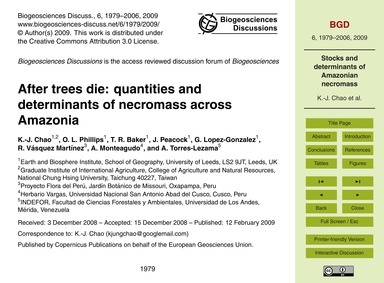 After Trees Die: Quantities and Determin... by Chao, K.-j.