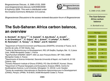The Sub-saharan Africa Carbon Balance, a... by Bombelli, A.
