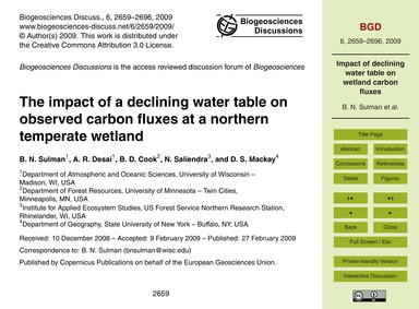 The Impact of a Declining Water Table on... by Sulman, B. N.