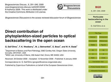 Direct Contribution of Phytoplankton-siz... by Dall'Olmo, G.