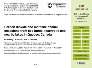 Carbon Dioxide and Methane Annual Emissi... by Demarty, M.