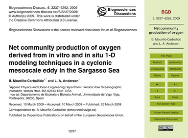 Net Community Production of Oxygen Deriv... by Mouriño-carballido, B.