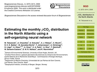 Estimating the Monthly PCo2 Distribution... by Telszewski, M.