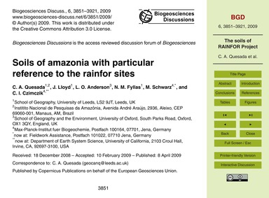 Soils of Amazonia with Particular Refere... by Quesada, C. A.