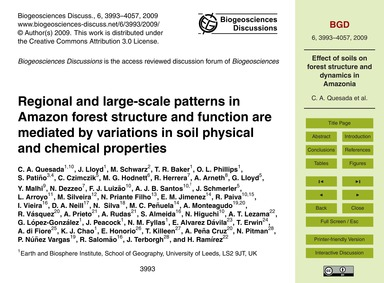 Regional and Large-scale Patterns in Ama... by Quesada, C. A.