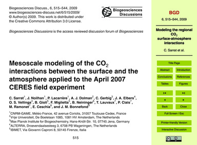 Mesoscale Modeling of the Co2 Interactio... by Sarrat, C.