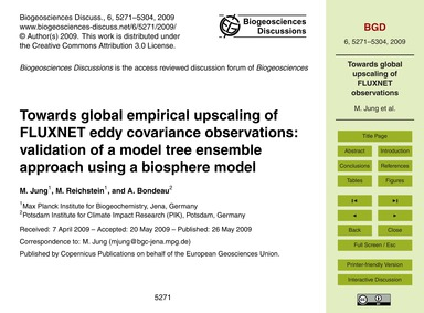 Towards Global Empirical Upscaling of Fl... by Jung, M.