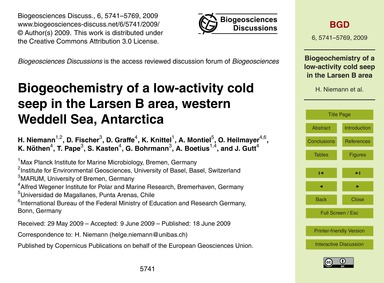Biogeochemistry of a Low-activity Cold S... by Niemann, H.