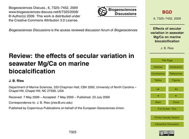 Review: the Effects of Secular Variation... by Ries, J. B.