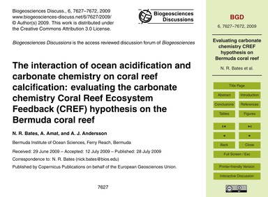 The Interaction of Ocean Acidification a... by Bates, N. R.