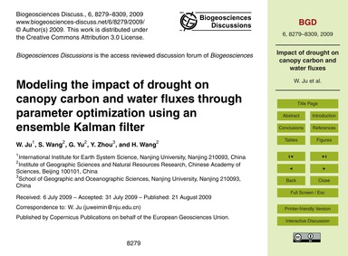 Modeling the Impact of Drought on Canopy... by Ju, W.