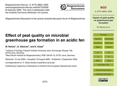 Effect of Peat Quality on Microbial Gree... by Reiche, M.