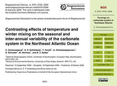 Contrasting Effects of Temperature and W... by Dumousseaud, C.
