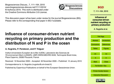 Influence of Consumer-driven Nutrient Re... by Nugraha, A.