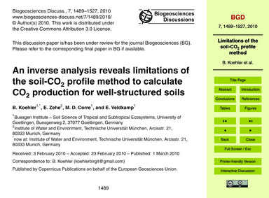 An Inverse Analysis Reveals Limitations ... by Koehler, B.