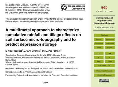A Multifractal Approach to Characterize ... by Vidal Vázquez, E.