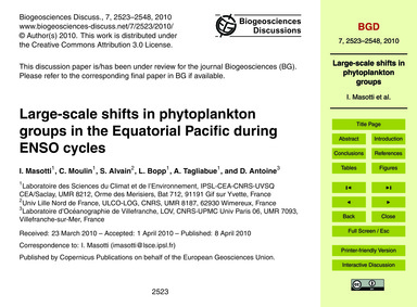 Large-scale Shifts in Phytoplankton Grou... by Masotti, I.