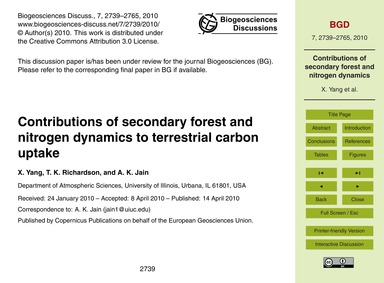 Contributions of Secondary Forest and Ni... by Yang, X.