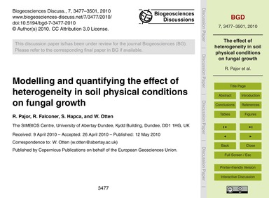 Modelling and Quantifying the Effect of ... by Pajor, R.