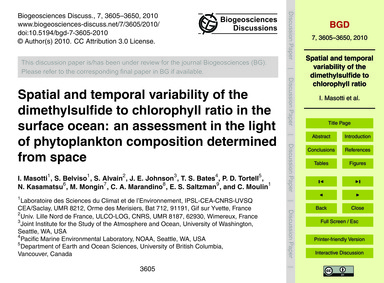 Spatial and Temporal Variability of the ... by Masotti, I.