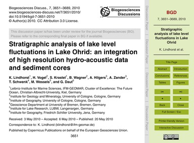 Stratigraphic Analysis of Lake Level Flu... by Lindhorst, K.