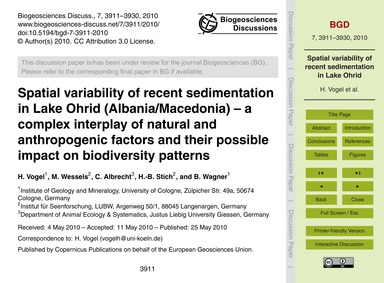 Spatial Variability of Recent Sedimentat... by Vogel, H.