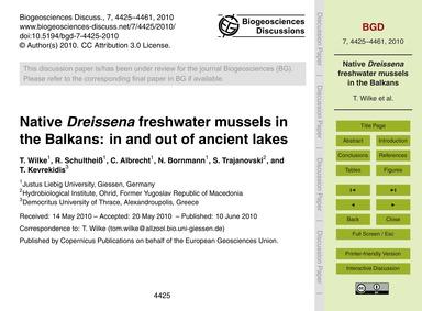 Native Dreissena Freshwater Mussels in t... by Wilke, T.