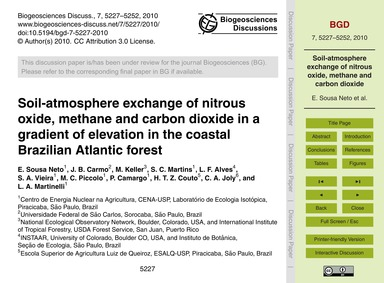 Soil-atmosphere Exchange of Nitrous Oxid... by Sousa Neto, E.