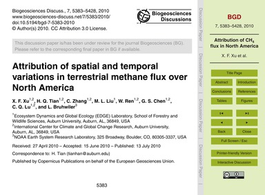 Attribution of Spatial and Temporal Vari... by Xu, X. F.